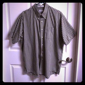RBM Men's Shirt Size 17.5 Button Down Short Sleeve